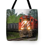 Red Ore Train On A Curve Near Bathurst Tote Bag