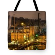 Oregon City Electricity Power Plant At Night Tote Bag
