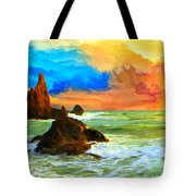Oregon Coast At Sunset Tote Bag