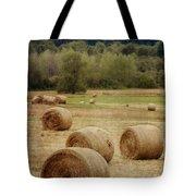 Oregon Hay Bales Tote Bag by Carol Leigh