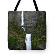 Oregon Long Shot Of  Falls Tote Bag