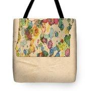 Oregon Map Vintage Watercolor Tote Bag