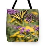 Oregon Swallowtail In The Garden  Tote Bag