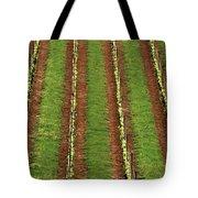 Oregon Vineyard Rows Panoramic Tote Bag