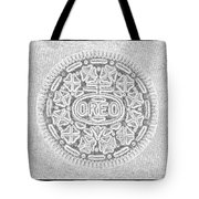 Oreo In Grey Tote Bag by Rob Hans