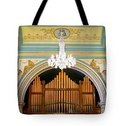 Organ And Ceiling Tote Bag