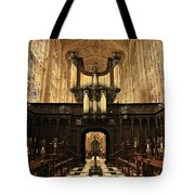 Organ And Choir - King's College Chapel Tote Bag