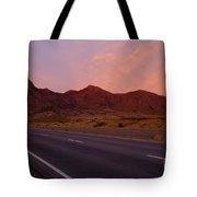 Organ Mountain Sunrise Highway Tote Bag by Mike  Dawson
