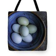 Organic Blue Eggs Tote Bag