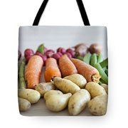 Organic Garden Vegetables Tote Bag