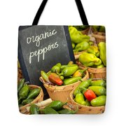 Organic Peppers At Farmers Market Tote Bag