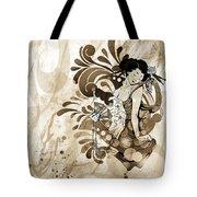Oriental Beauty Sepia Tone Tote Bag