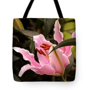 Oriental Lily Beauty Tote Bag