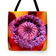 Oriental Poppy Tote Bag