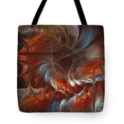 Oriental Sumptuousness-floral Fractal Design Tote Bag by Karin Kuhlmann