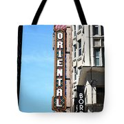 Oriental Theater With Watercolor Effect Tote Bag