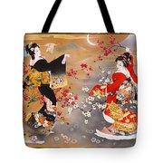 Oriental Triptych Tote Bag