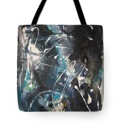 original abstract blue and black painting for sale-Blue Valley Tote Bag