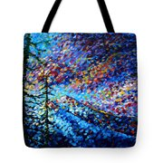 Original Abstract Impressionist Landscape Contemporary Art By Madart Mountain Glory Tote Bag