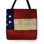 Original Stars And Bars Confederate Civil War Flag Tote Bag by Daniel Hagerman