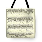 Original Desiderata Poem Tote Bag