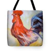 Original Animal Oil Painting - Big Cock#16-2-5-29 Tote Bag