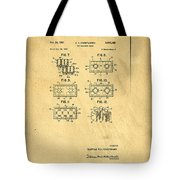 Original Patent For Lego Toy Building Brick Tote Bag by Edward Fielding