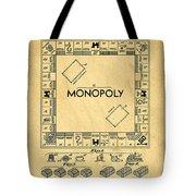 Original Patent For Monopoly Board Game Tote Bag