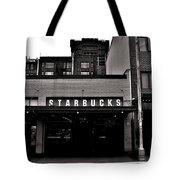 Original Starbucks Black And White Tote Bag