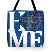 Orlando Street Map Home Heart - Orlando Florida Road Map In A He Tote Bag