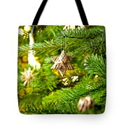 Ornament In A Christmas Tree Tote Bag