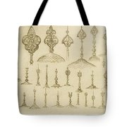 Ornamental Knobs Shaped As Domes Tote Bag
