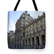 Ornate Architectural Artwork On The Buildings Of The Musee Du Louvre In Paris France Tote Bag