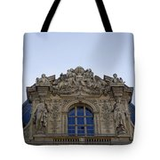 Ornate Architectural Artwork On The Musee Du Louvre Buildings In Paris France  Tote Bag