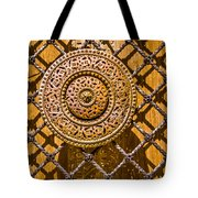 Ornate Door Knob Tote Bag by Carolyn Marshall