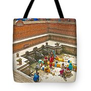 Ornate Fountains With Holy Water From The Bagmati River In Patan Durbar Square In Lalitpur-nepal   Tote Bag