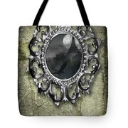 Ornate Metal Mirror Reflecting Church Tote Bag