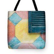 Ornate Wall With Shutter Tote Bag