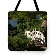 Ornate White Stone Bridge  Tote Bag