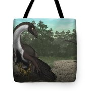 Ornithomimus Mother Dinosaur Tote Bag by Vitor Silva
