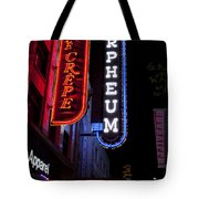Orpheum And Cafe Crepe Tote Bag