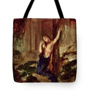 Orpheus At The Tomb Of Eurydice Tote Bag