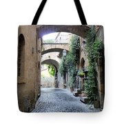 Orvieto Street With Arches Tote Bag