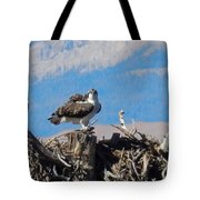 Osprey And Catch Tote Bag