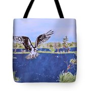 Osprey At Tuttle Marsh Tote Bag