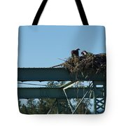 Osprey Nest With Mom And Chicks Tote Bag
