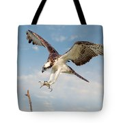 Osprey With Talons Extended Tote Bag