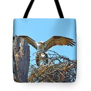 Ospreys Copulating In New Nest2 Tote Bag