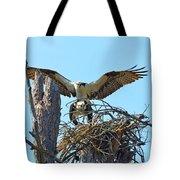 Ospreys Copulating In New Nest3 Tote Bag