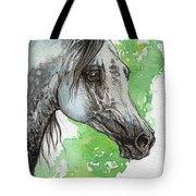 Ostragon Polish Arabian Horse Painting 1 Tote Bag